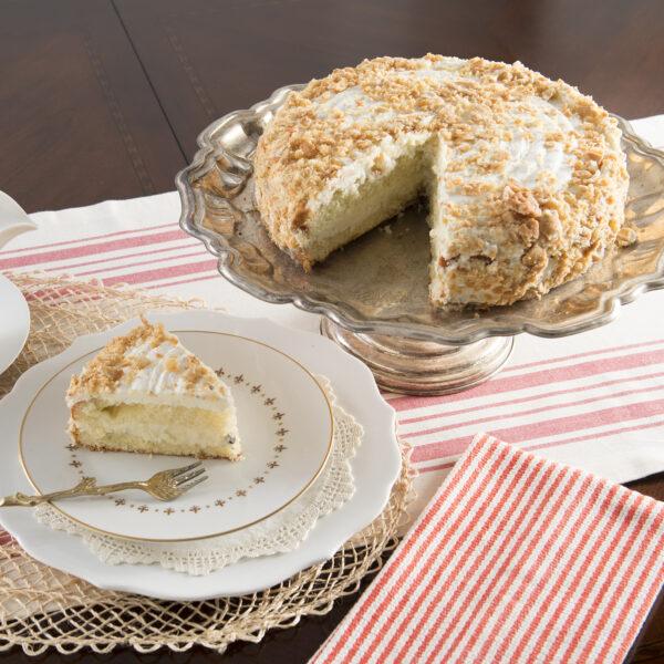 Authentic Cannoli Cake Slice
