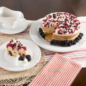 Italian Wildberry Cake Slice