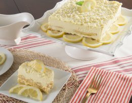 Lemoncello Mascarpone Cake Slice