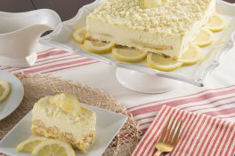 Lemoncello Mascarpone Cake Slice