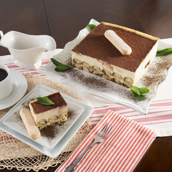 Tiramisu Mascarpone Cake Slice